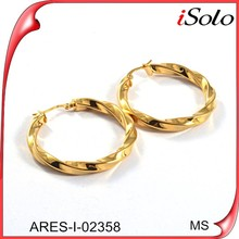 Accesories for jewellery cheap stainless steel jewelry gold plate earring