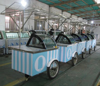 ice cream gelato popsicle display carts/ice slush cart tricycle with wheels(CE)