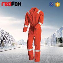 Protex / algodão de alta visibilidade coverallpainter branco coverallfire retardador de coverall com oi vis fita