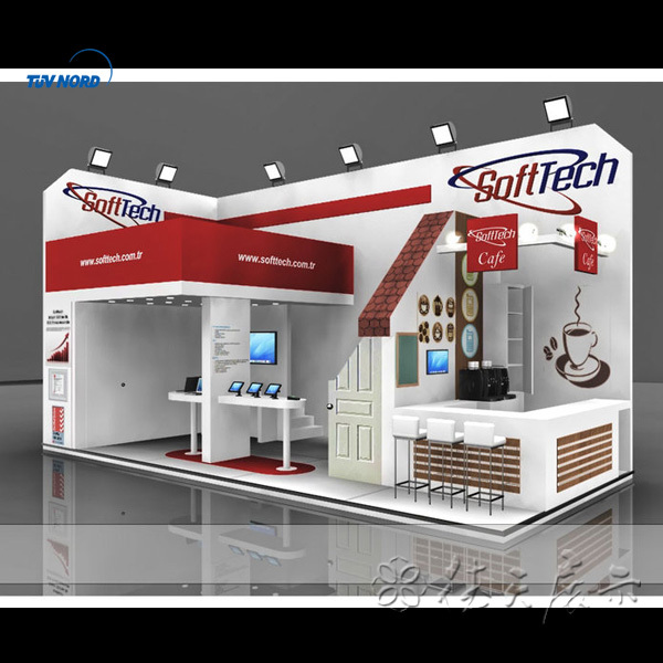 Exibition stand collapsible booth portable fair booth fair for Maquette stand