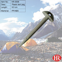 """3.75"""" Outdoor camping mini plastic tent stake"""