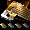 Metal + PC For Samsung Galaxy Note 4 Mobile Phone Case, Ling Plaid Back Cover For Samsung Note 4