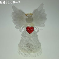 factory price wholesale valentine glass crafts with led light