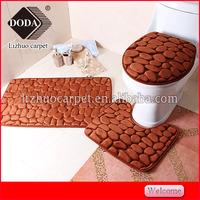 soft microfiber plain color memory foam antislip embossed mat