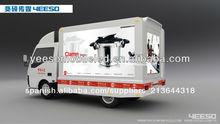 Nuevo producto para la final de 2014 led mini coche los medios de comunicación yes-v6s personalizado trailer de publicidad móvil