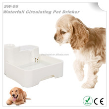 Super Quiet Operation Waterfall Circulating Pet Drinker with dog drinking water fountain