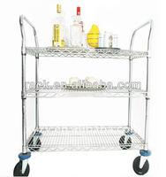 NSF DIY 3 Tiers Hotel/Restaurant Service Tea Trolley