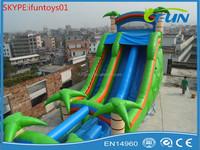 big inflatable tree water slide / inflatable water slide / palm tree inflatable water slide