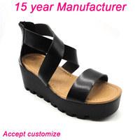 latest design cheap woman wedge sandals 2015