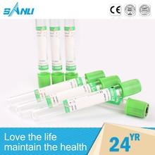 tubo de ensayo de heparina