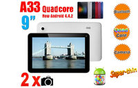 """9"""" Capacitive Multi Touch screen Android 4.4 Tablet PC A33 Quad-core 1.2 GHZ 8GB WIFI 802"""