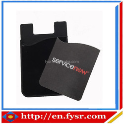 Silicone Smart Phone Wallet/Card Holder with screen clearner for promotion