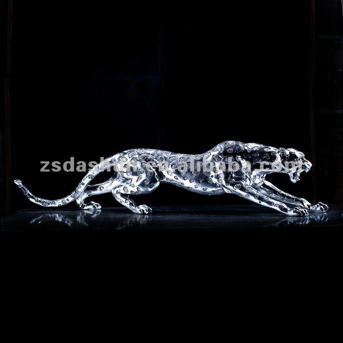 Corriendo ds130046 estatua de leopardo de alta final de for Decoracion hogar leopardo