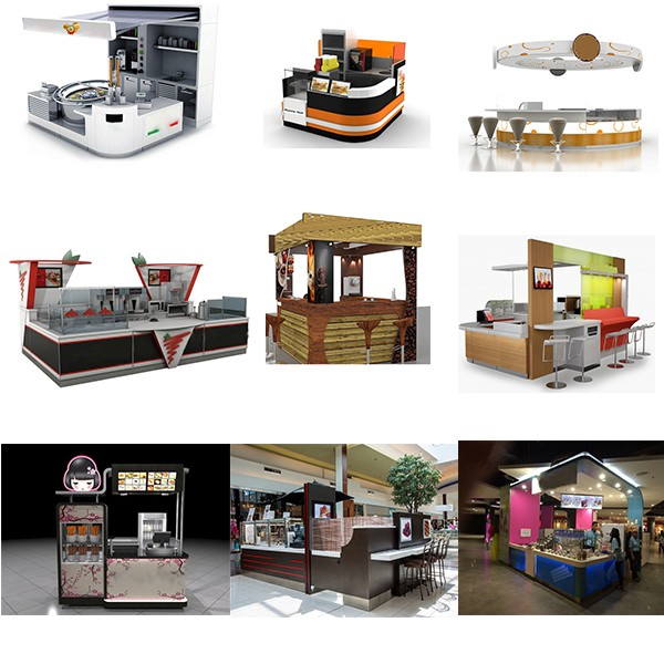 Commercial coffee bar counter for sale food kiosk for Food bar manufacturers