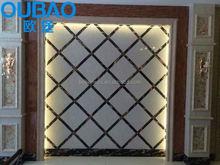 modern house design plans TV background washroom interior decorative slat wall panel
