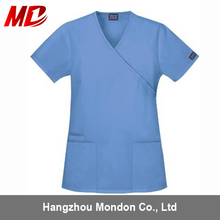 High Quality Sky blue Polyster/Cotton Nurse Hospital Uniform