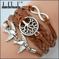 birds bracelet jewelry fashion charm pulseira pulseras Db095