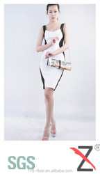 Shoes and clothes matching clutch bag crystal dinner bag for woman