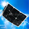 Wholesale high efficiency monocrystalline semi mini flexible solar panel 20w in best price
