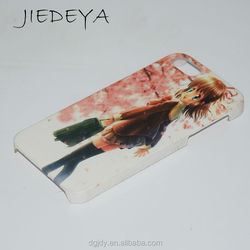 4.0 inch sublimation printing phone case for iphone5/5S with rubber coating