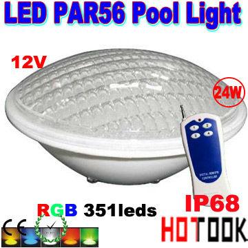 Foco piscina led rgb bombilla par56 24w control remoto proyector luminaria luz multicolor - Foco led piscina ...