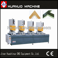 Seamless three head welding machine for pvc profile