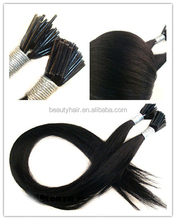 Top Quality Popular In Italy/Sweden SO .CAP Quality Keratin I Tip Remy Hair Extension