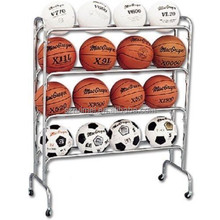 optional detachable wheeled basketball display shelf
