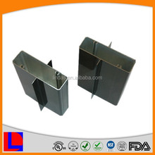 6000 series black anodized square aluminum profile with winds