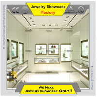 Jewelry kiosk showcase glass stainless steel furniture for jewelry