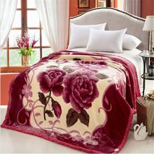 Floral and animal print fleece blanket fabric