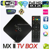 MXIII XBMC TV Box 2G/8G Amlogic S802 Quad Core 4 A9 Android 4.4 Dual Wifi 2.4G 5G Bluetooth 4K HD