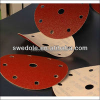 "abrasive hook and loop discs 4""-9"" 120# velcro sanding disc"
