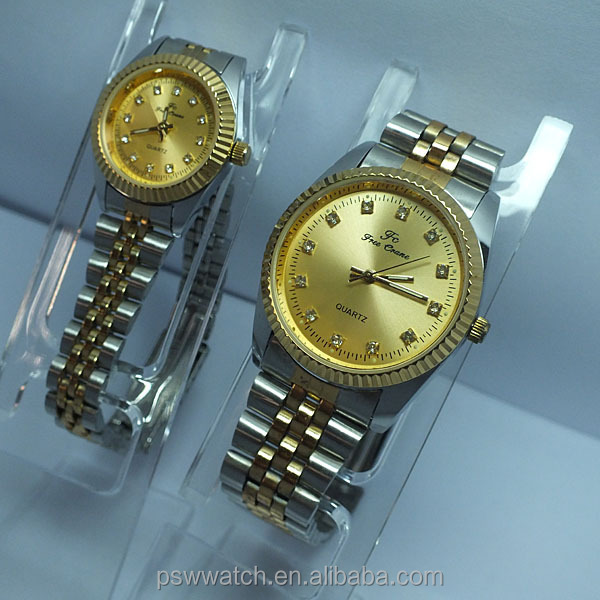Diamond dial face wrist watches for couples best gift couple watches