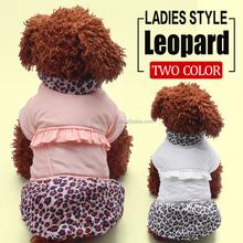 2015 Newest designer Girl dog hoody Coat Leopard Pet Coats Wholesale
