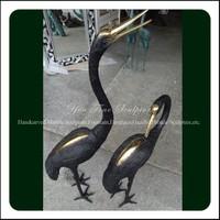 Factory Casting Wild Animal Bronze Crane Statue For Sale