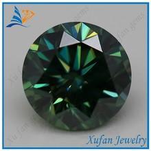 precious round green wholesale moissanite