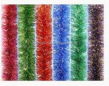 Gold Christmas Tinsel,Foil decorative wire tinsel for Decorative Party/Holiday/Christmas