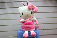 40*38CM popular honey bee hello kitty bags pink bow solid nose