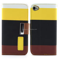 Bulk buy from china Mixed Color Rainbow PU Leather Wallet Case simple style pu for iphone 6 leather case wholesale