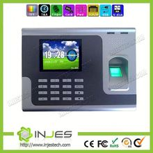 INJES Chaep 3 Inches TFT Screen TCP/IP Web Based Biometric Free Software Finger Scan Time Calculator