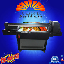 Commercial used UV1313 size cloth flatbed printer/ cloth digital printer/uv flatbed printer for sale