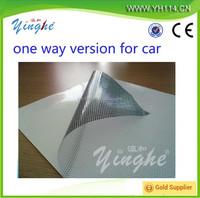 Glass sticker one way vision,sticker printing on sticky side,one way vision window vinyl sticker
