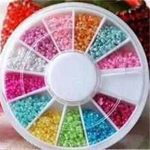 1800pcs Candy Colors Acrylic Half Round Pearls Flat Back Jewelry Nail Art Beads Decoration Craft DIY Tools Free Shipping