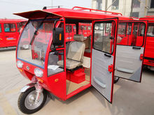 Solar power electric tricycle use for taxi