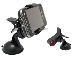 360 degree Car Windshield Mount cell mobile phone Holder Bracket stands for iPhone5 4S for samsung Smartphone