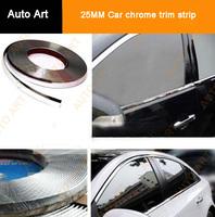Universal 15M x 25MM Chrome Car Protector Bumper Guard Moulding Trim Strip