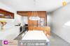 Modern professional high gloss finish kitchen cabinet design with precut granite countertops