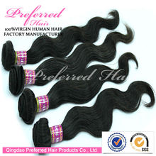 Cheapest&Hottest Sale 1# Body Wave Charming Style Brazilian Human Hair Extensions/Weft Accept Paypal&Escrow Payment