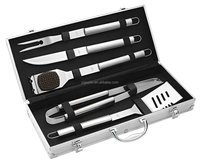 5pc snap on bbq grill tool set with carry case